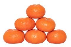 odosobniony mandarine Zakończenie-w górę świeży dojrzały mandarynka pomarańcze tangerine lub clementine odizolowywać na biały tło fotografia royalty free