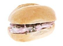odosobniony mięsnej rolki sałatkowy biel Zdjęcie Royalty Free