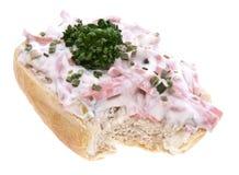 odosobniony mięsnej rolki sałatkowy biel Zdjęcie Stock