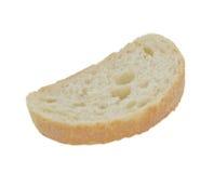 Odosobniony na biel plasterek chleb, obrazy stock