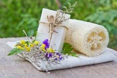 odosobniony natury mydła biel Zdjęcia Stock