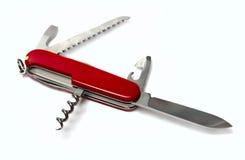 odosobniony noża kieszeni biel Obraz Stock
