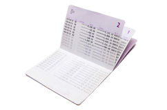Odosobniony oszczędzania obrachunkowy passbook Fotografia Royalty Free