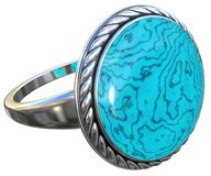 odosobniony pierścionku srebra biel Zdjęcie Royalty Free