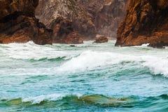 Odosobniony plażowy Ursa na Atlantyk wybrzeżu blisko przylądka Roca Obrazy Royalty Free