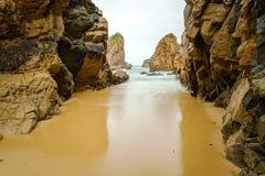 Odosobniony plażowy Ursa na Atlantyk wybrzeżu blisko przylądka Roca Obraz Royalty Free