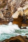 Odosobniony plażowy Ursa na Atlantyk wybrzeżu blisko przylądka Roca Obraz Stock