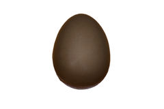 Odosobniony pojedynczy czekoladowy jajko obraz royalty free