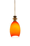 Odosobniony Pomarańczowy lampion na Białym tle Fotografia Stock