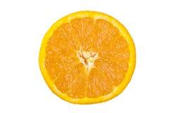 odosobniony pomarańczowy plasterek zdjęcie stock