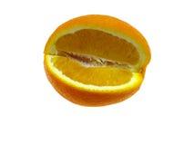odosobniony pomarańczowy segment Obrazy Royalty Free