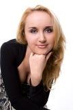 Odosobniony portret strzelający blondynka Fotografia Royalty Free