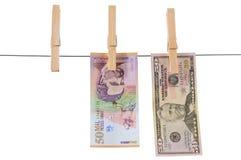 odosobniony pralniczy pieniądze Obraz Stock