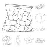 Odosobniony przedmiot czysty i mokry symbol Set czysty i czystość akcyjny symbol dla sieci ilustracji