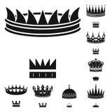 Odosobniony przedmiot królewiątko i majestatyczny symbol Kolekcja królewiątko i złoto wektorowa ikona dla zapasu ilustracja wektor