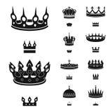 Odosobniony przedmiot kr?lewi?tko i majestatyczny symbol Kolekcja kr?lewi?tko i z?oto wektorowa ikona dla zapasu royalty ilustracja
