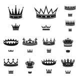Odosobniony przedmiot kr?lewi?tko i majestatyczny symbol Set kr?lewi?tko i z?ocistego zapasu wektoru ilustracja ilustracji