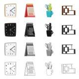 Odosobniony przedmiot meble i pracy ikona Set meble i domowa wektorowa ikona dla zapasu royalty ilustracja