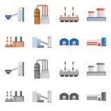 Odosobniony przedmiot produkcji i struktury logo Set produkcji i technologii zapasu wektoru ilustracja ilustracji