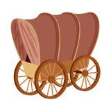 Odosobniony przedmiot stagecoach i furgonu logo Kolekcja stagecoach i przejażdżka akcyjny symbol dla sieci ilustracja wektor