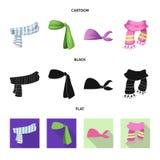Odosobniony przedmiot szalika i chusty logo Set szalika i akcesorium akcyjna wektorowa ilustracja royalty ilustracja