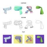 Odosobniony przedmiot szalika i chusty logo Set szalika i akcesorium akcyjna wektorowa ilustracja ilustracja wektor