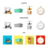 Odosobniony przedmiot towary i ładunek ikona Set towary i magazyn akcyjna wektorowa ilustracja royalty ilustracja
