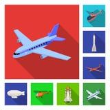 Odosobniony przedmiot transportu i przedmiota logo Set transport i szybownicza wektorowa ikona dla zapasu ilustracja wektor