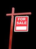 Odosobniony przejrzysty Dla sprzedaż znaka dla domu Fotografia Stock