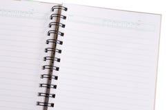odosobniony puste miejsce notatnik Zdjęcie Stock
