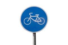 Odosobniony rowerowego pasa ruchu znak zdjęcie royalty free