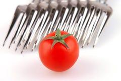 odosobniony rozwidlenie pomidor Zdjęcia Stock