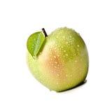 Odosobniony Soczysty Zielony Apple Odizolowywający Na bielu Obrazy Stock