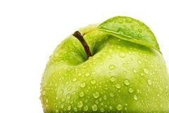 Odosobniony Soczysty Zielony Apple Odizolowywający Na bielu Fotografia Stock