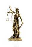 odosobniony sprawiedliwości sylwetki statuy biel Obraz Royalty Free