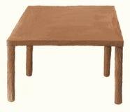 odosobniony stołowy drewno Fotografia Royalty Free