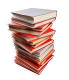 Odosobniony stos książki na białym tle Obrazy Royalty Free