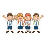 Odosobniony szkoła dzieciaków projekt Zdjęcie Stock