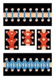 Odosobniony sznurowanie ustawiający z różnymi stylami i kolorami dla druku również zwrócić corel ilustracji wektora Fotografia Stock