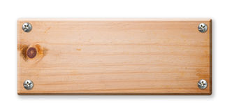 odosobniony szyldowy drewno Fotografia Royalty Free