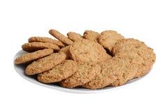 Odosobniony talerz oatmeal ciastka obrazy stock