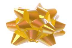 odosobniony tasiemkowy kolor żółty fotografia stock