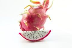 Odosobniony tropikalny pitaya, smok owoc na białym tle Fotografia Royalty Free