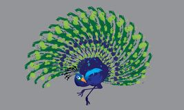Odosobniony wektor colourful dancingowy paw Zdjęcie Royalty Free