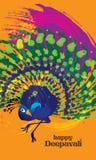 Odosobniony wektor colourful dancingowy paw Obraz Stock
