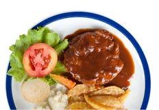 odosobniony wołowina stek Fotografia Stock