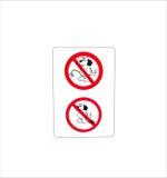 Odosobniony zabrania znaka dla psiego toalety wc Zdjęcia Royalty Free