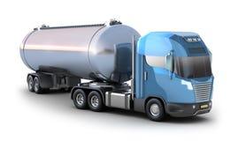 odosobniony zbiornikowiec do ropy ciężarówki biel Fotografia Stock