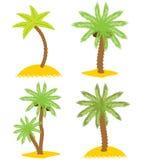 odosobnionych przedmiotów palmowych ustalonych drzew różnorodny vecto Obraz Royalty Free