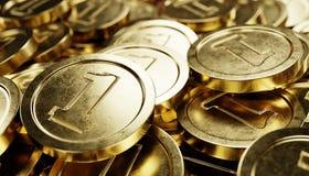 Odpłaca się ampuła stos monety Zdjęcia Stock